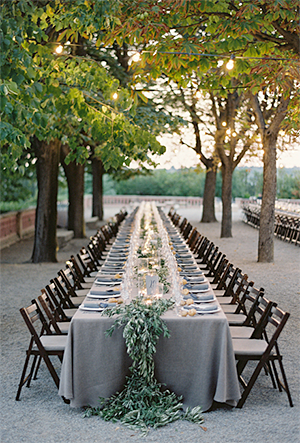 Banquet-Style Wedding Tables